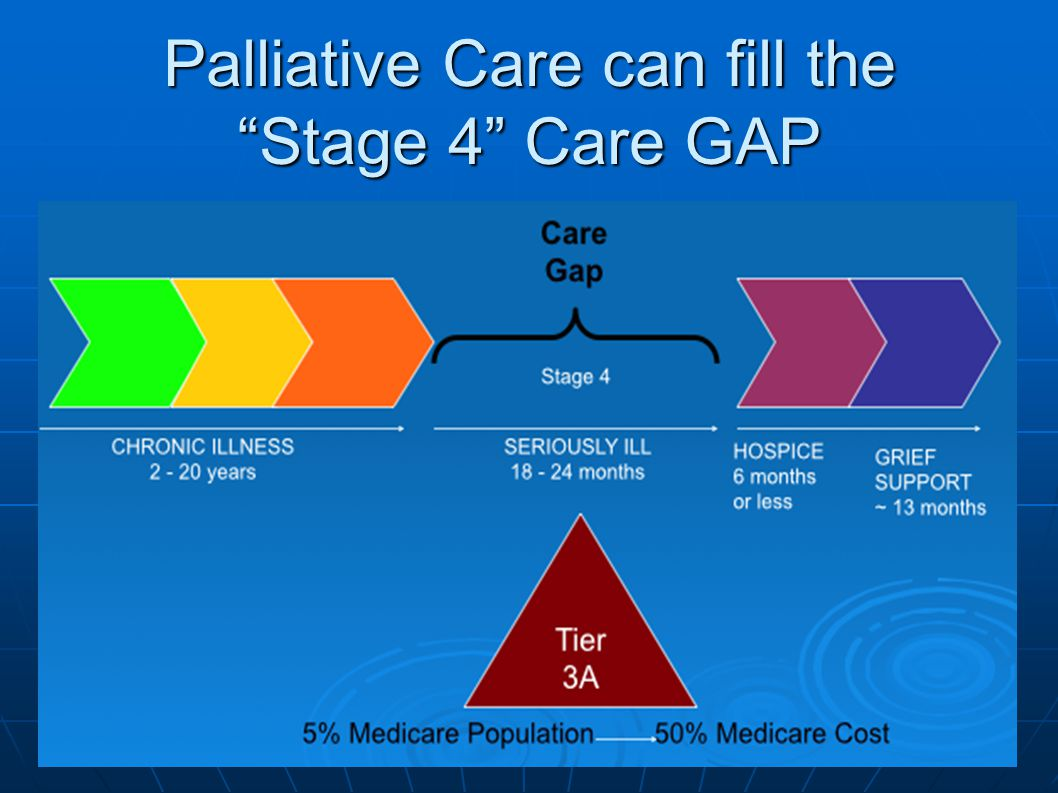 Palliative Care can fill the Stage 4 Care GAP