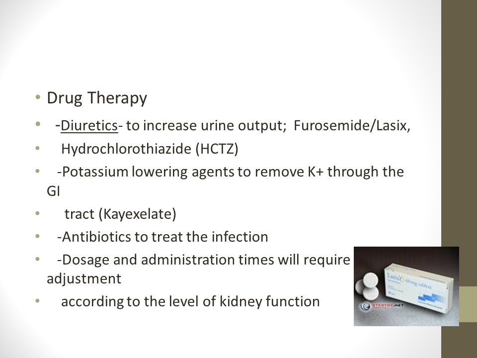 Acute Renal Failure Drug Therapy