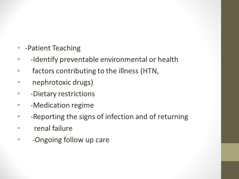 Acute Renal Failure -Patient Teaching