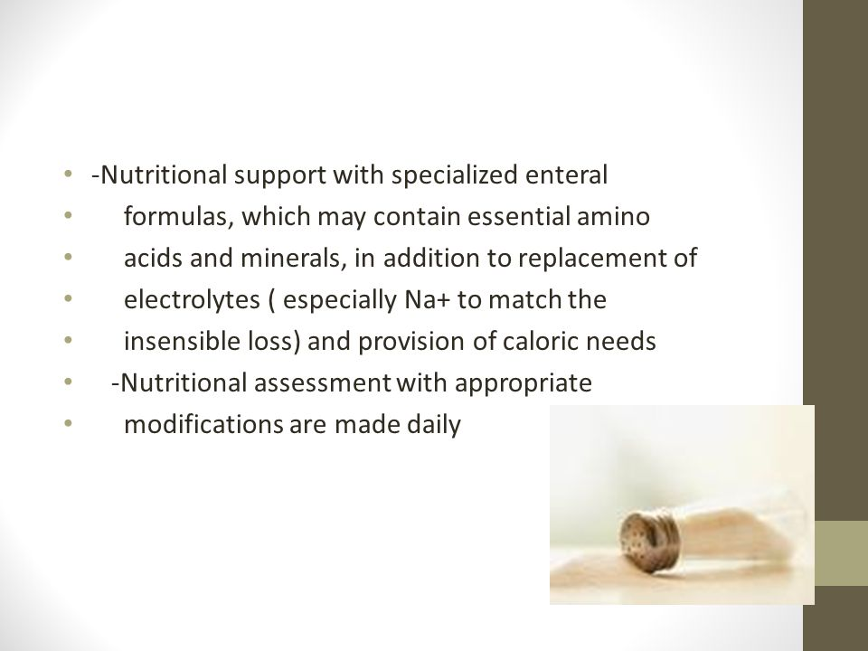 Acute Renal Failure -Nutritional support with specialized enteral