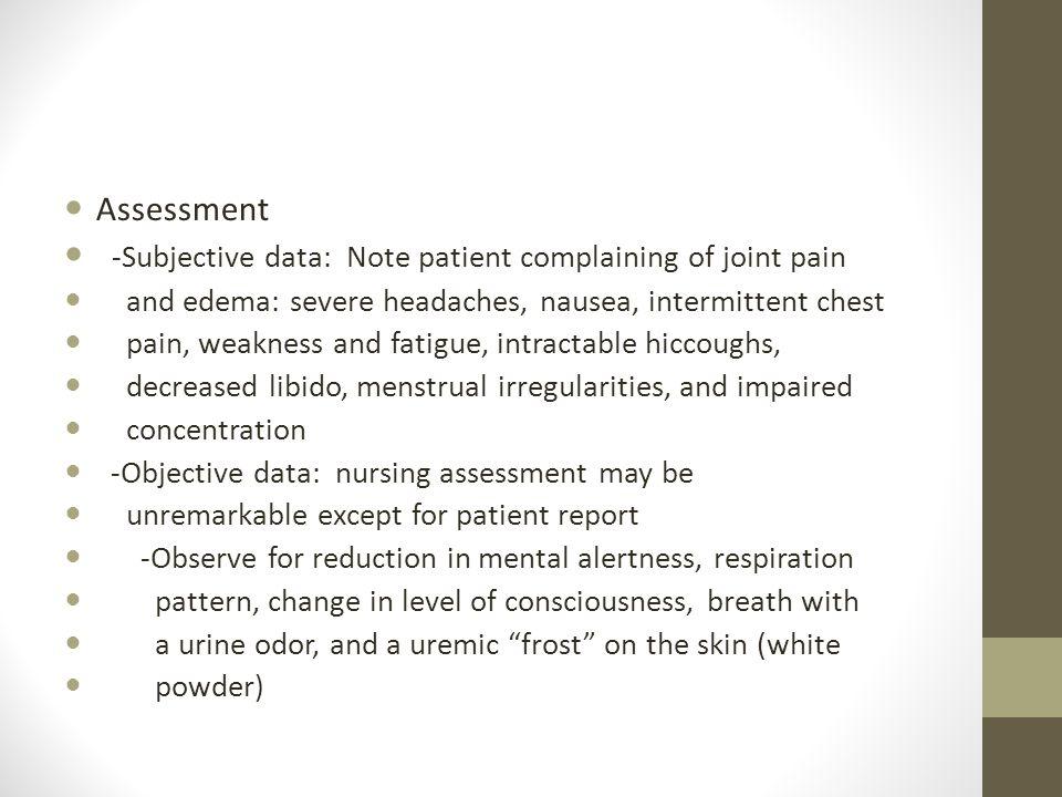 Chronic Renal Failure Assessment