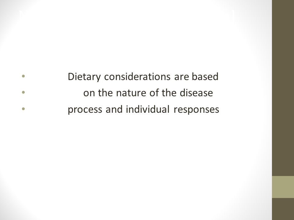 Nutritional Therapy in Renal Disease