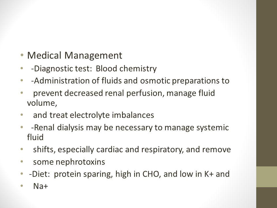 Acute Renal Failure Medical Management