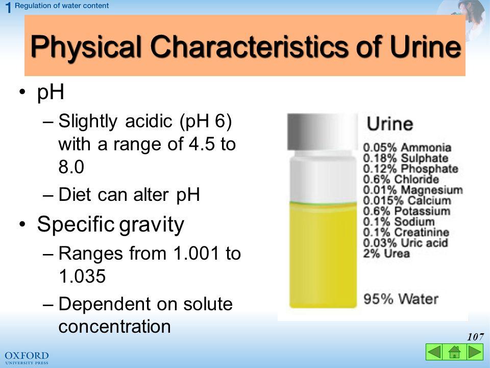 Physical Characteristics of Urine
