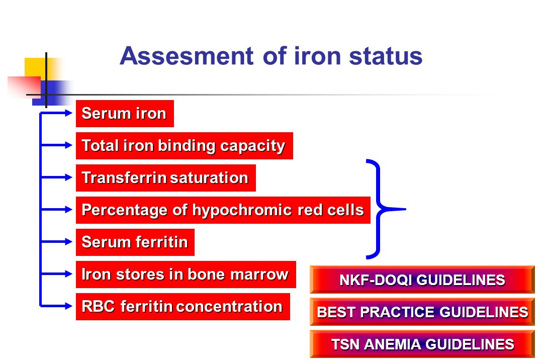 Assesment of iron status BEST PRACTICE GUIDELINES