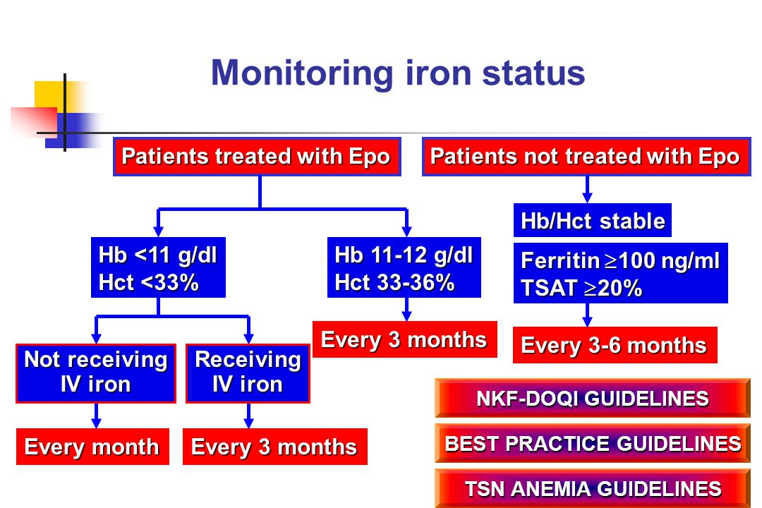 Monitoring iron status BEST PRACTICE GUIDELINES