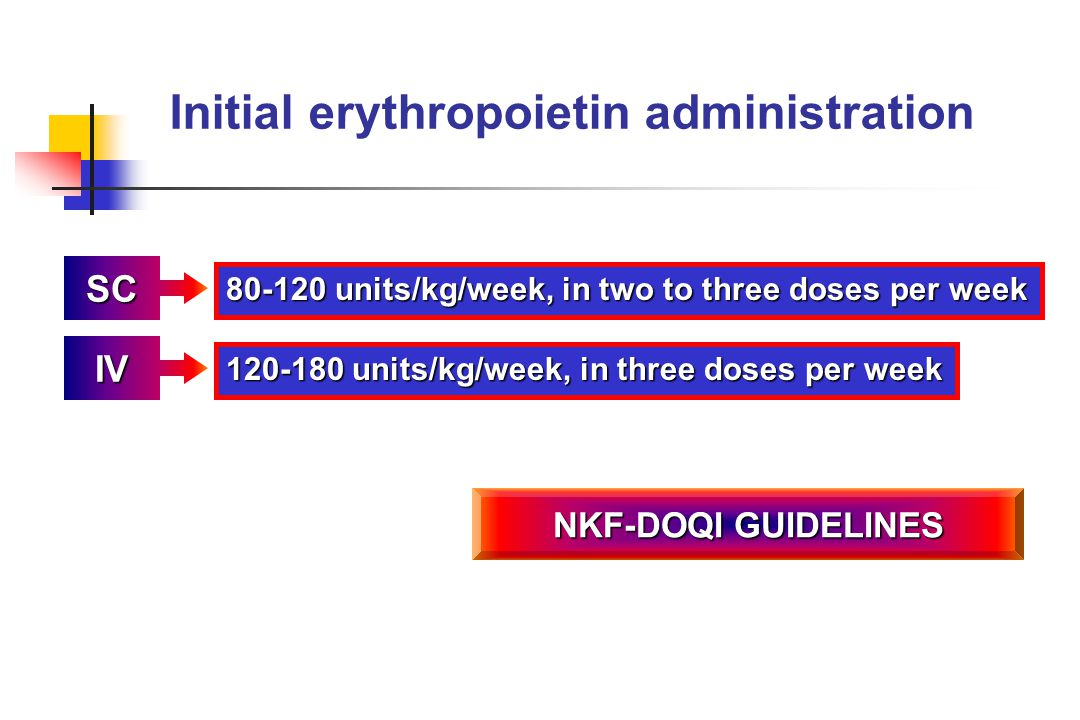Initial erythropoietin administration