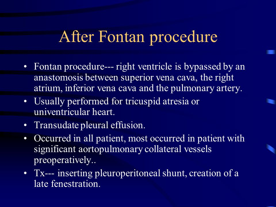After Fontan procedure