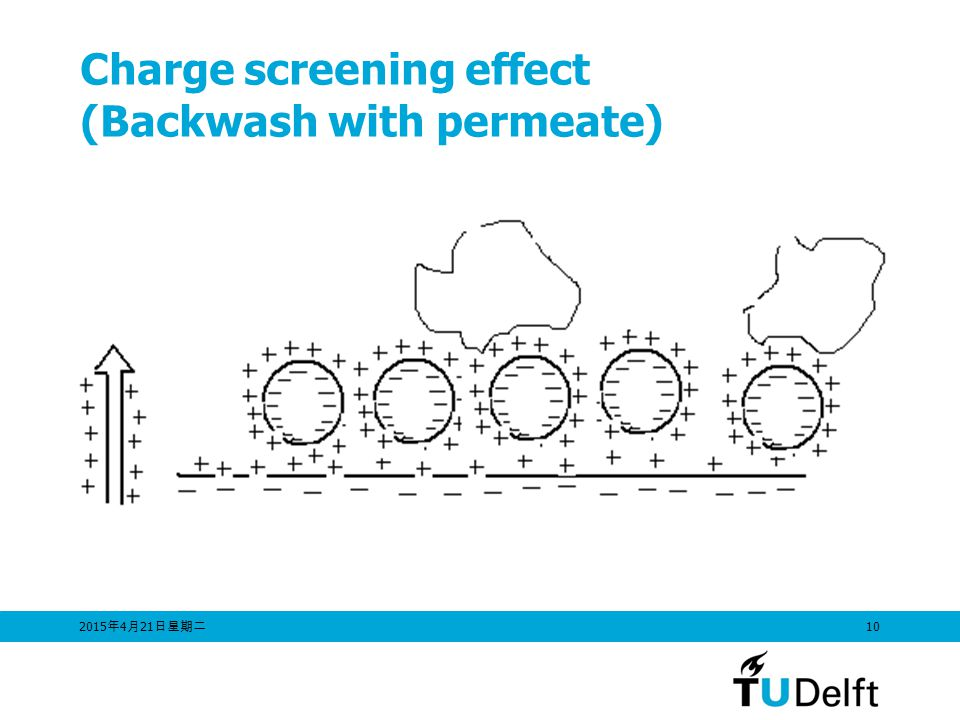 Charge screening effect (Backwash with permeate)