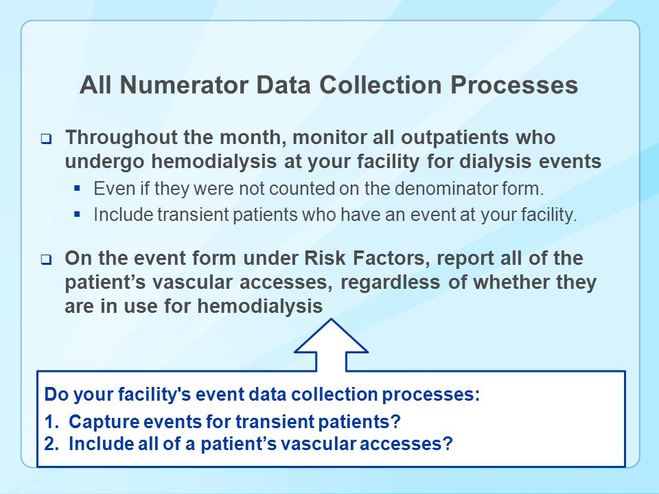 All Numerator Data Collection Processes