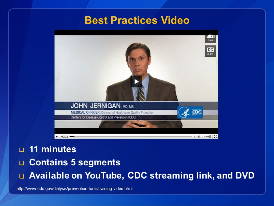 Best Practices Video 11 minutes Contains 5 segments
