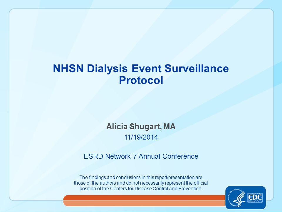NHSN Dialysis Event Surveillance Protocol