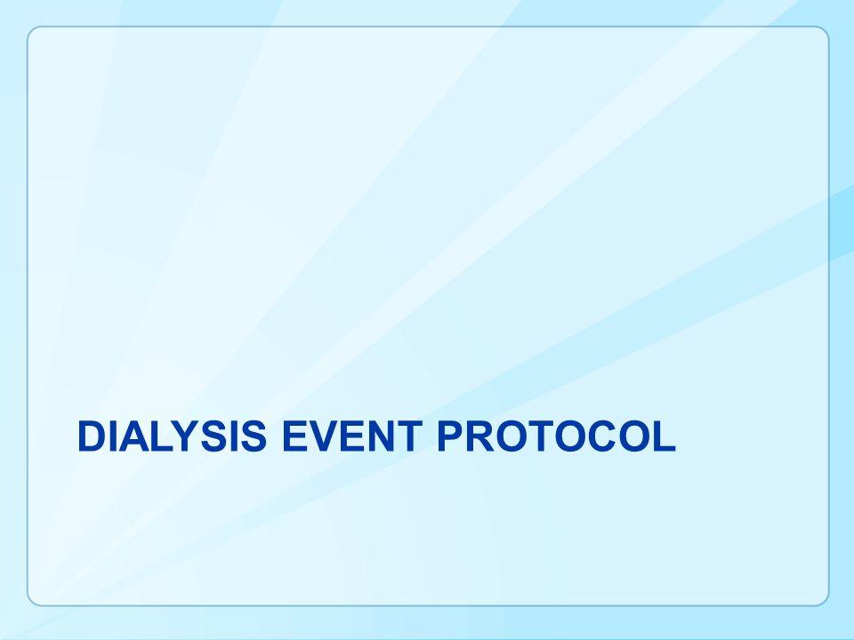 DIALYSIS EVENT Protocol