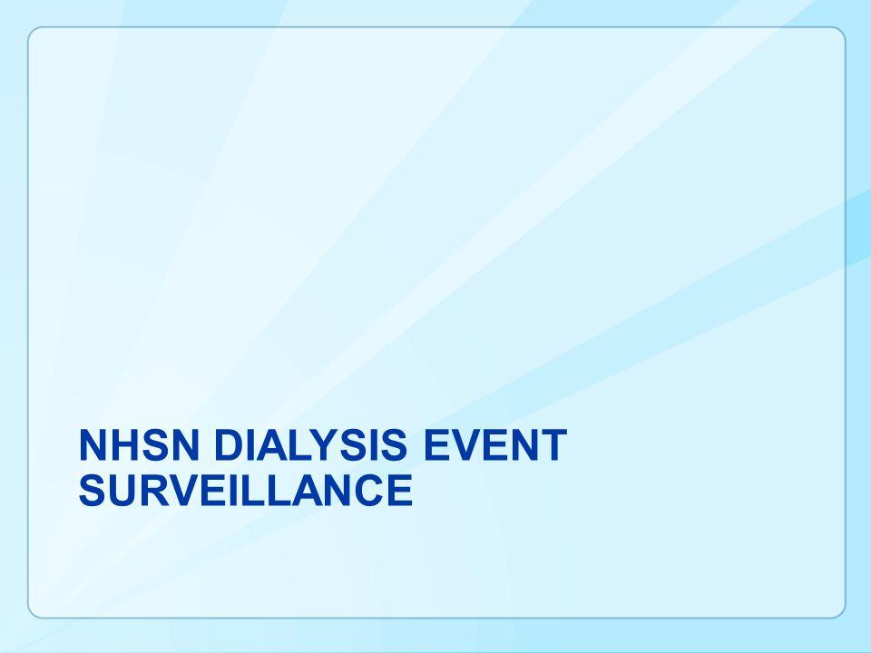 NHSN DIALYSIS Event Surveillance