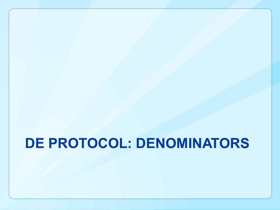 DE Protocol: Denominators