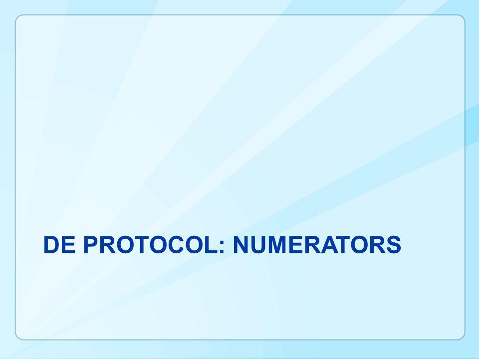 DE Protocol: numeratorS