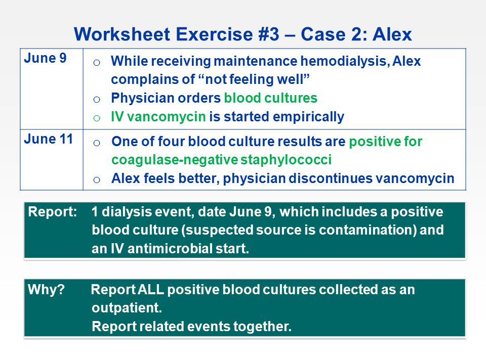 Worksheet Exercise #3 – Case 2: Alex