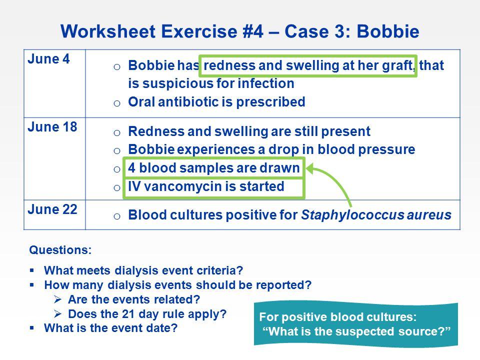 Worksheet Exercise #4 – Case 3: Bobbie