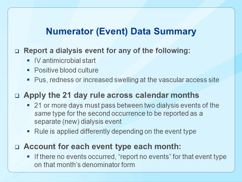 Numerator (Event) Data Summary