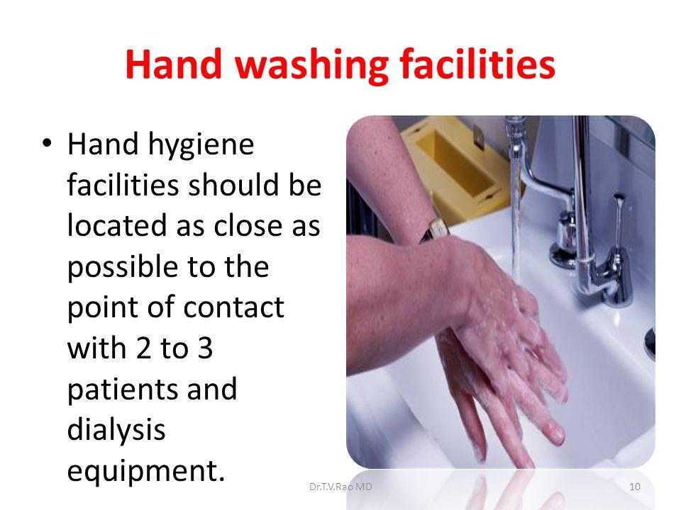 Hand washing facilities