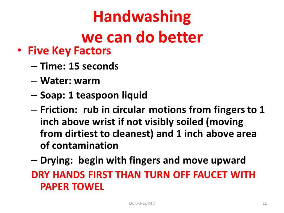 Handwashing we can do better