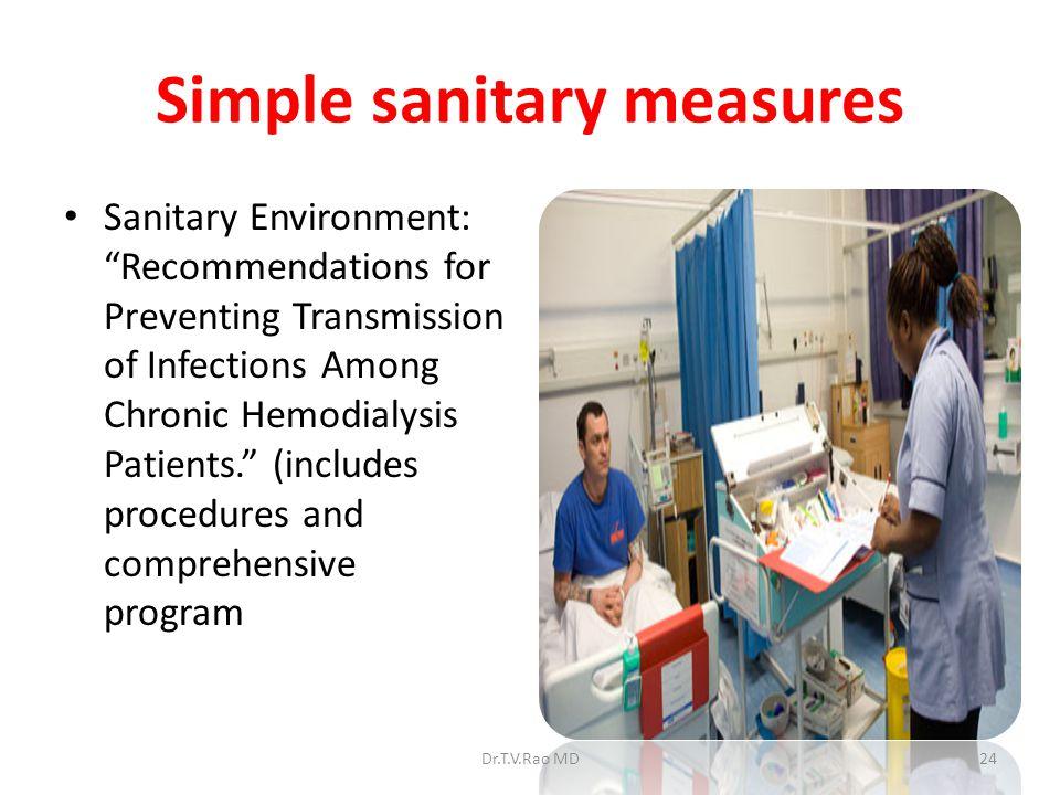 Simple sanitary measures