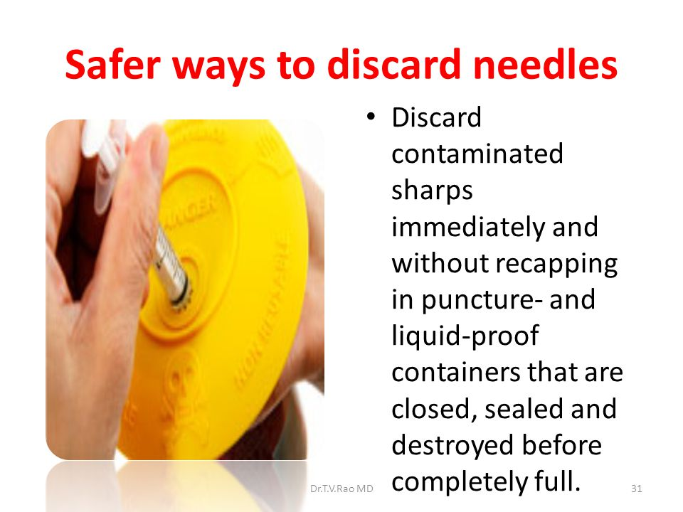 Safer ways to discard needles