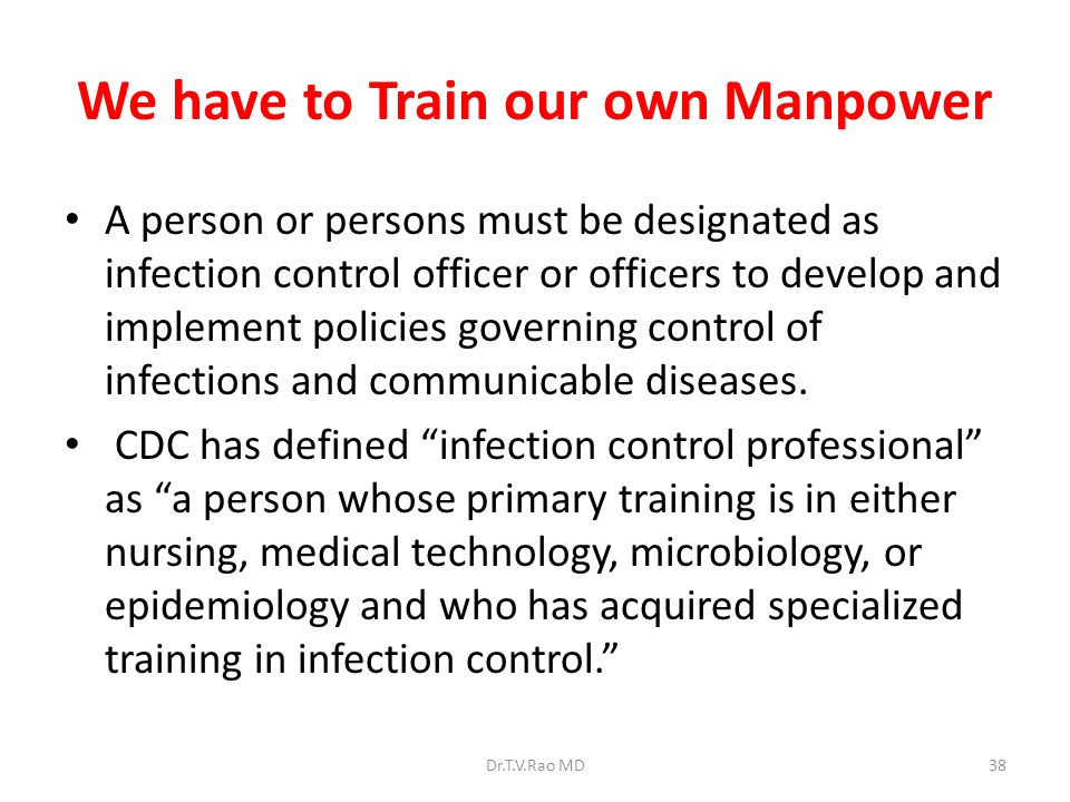 We have to Train our own Manpower