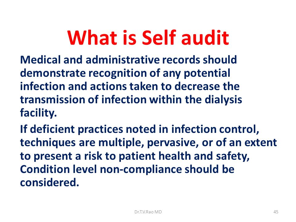 What is Self audit
