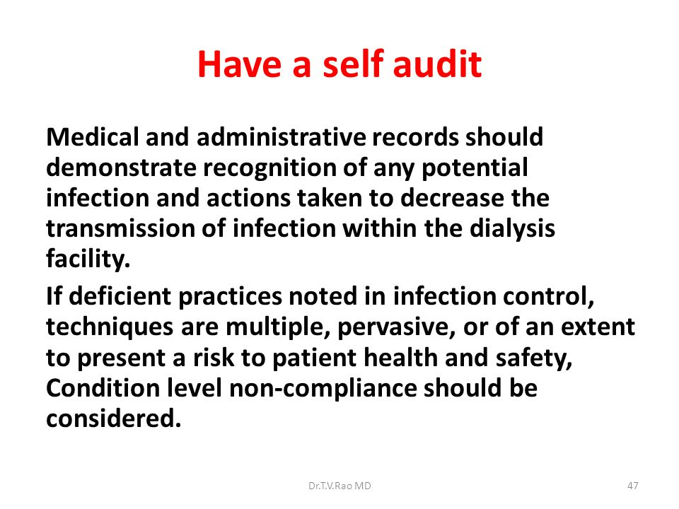 Have a self audit