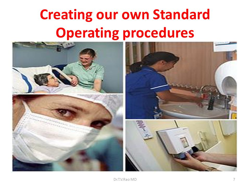 Creating our own Standard Operating procedures