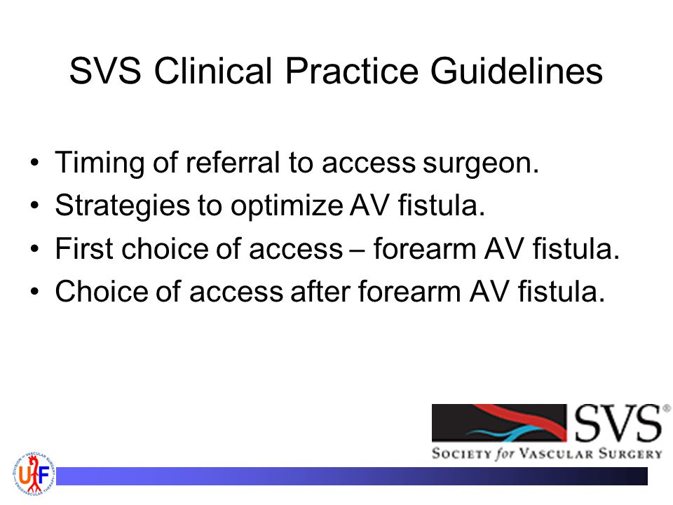 SVS Clinical Practice Guidelines