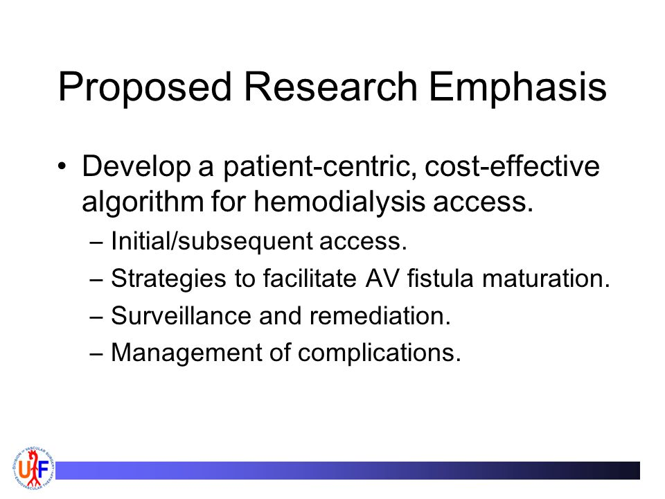 Proposed Research Emphasis