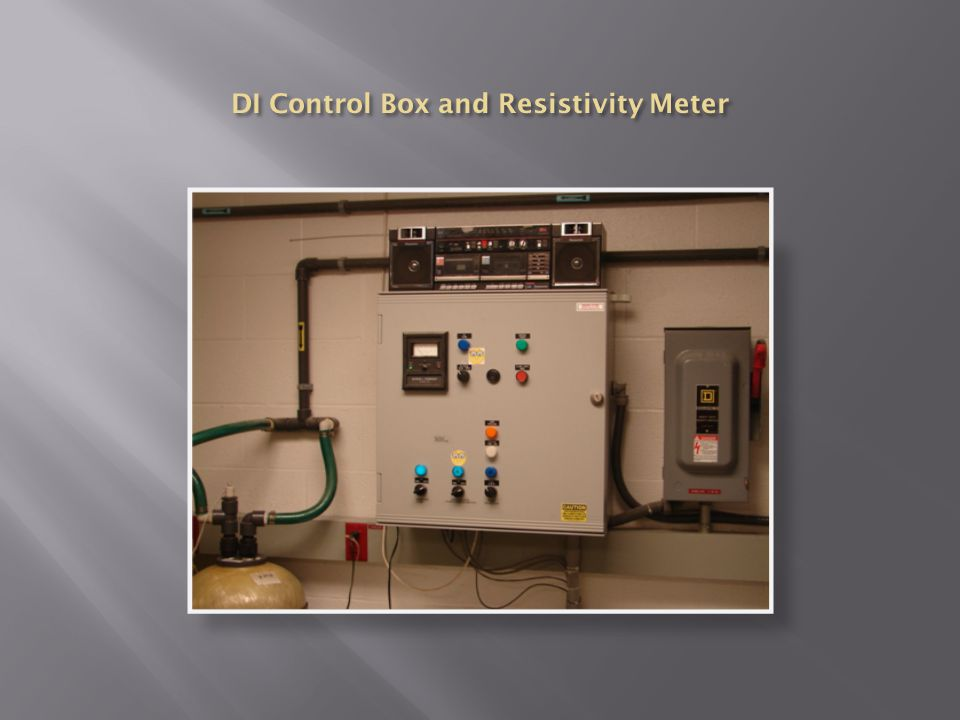 DI Control Box and Resistivity Meter