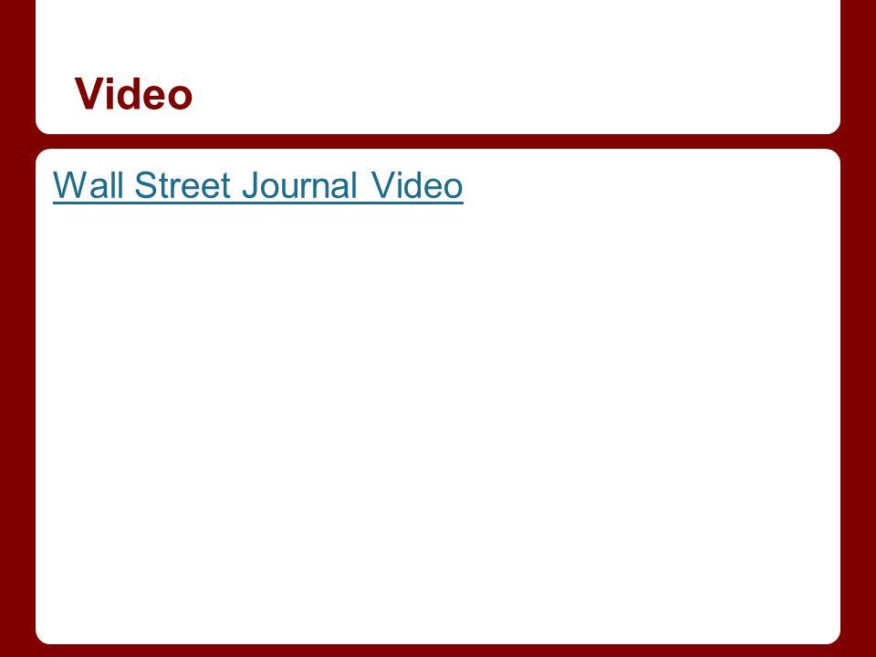 Video Wall Street Journal Video