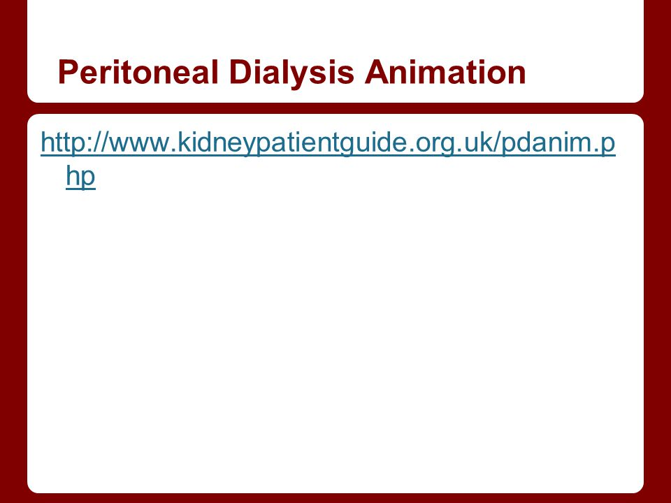 Peritoneal Dialysis Animation