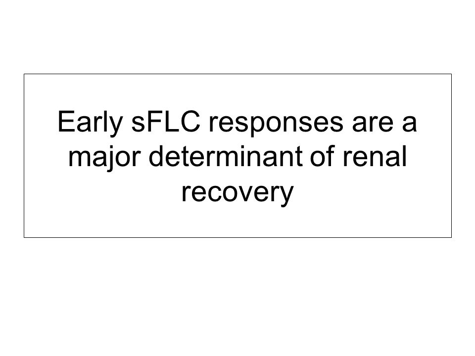 Early sFLC responses are a major determinant of renal recovery