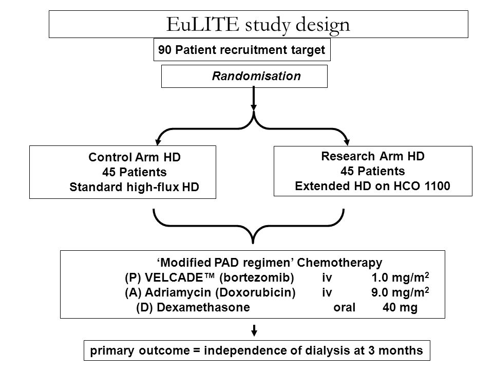 EuLITE study design 90 Patient recruitment target Randomisation