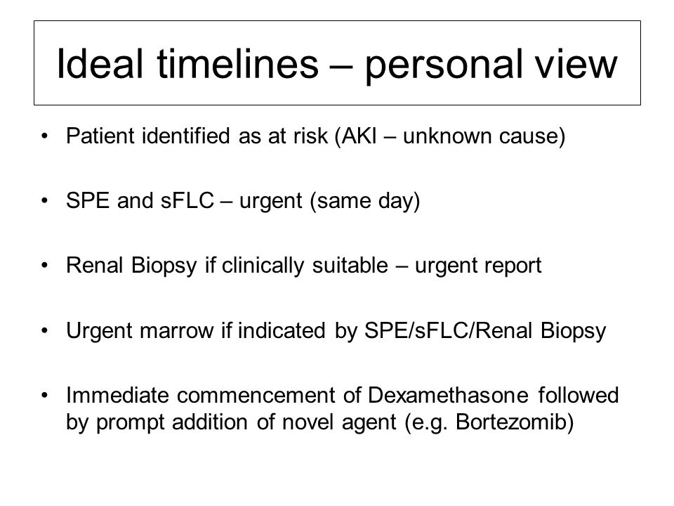 Ideal timelines – personal view