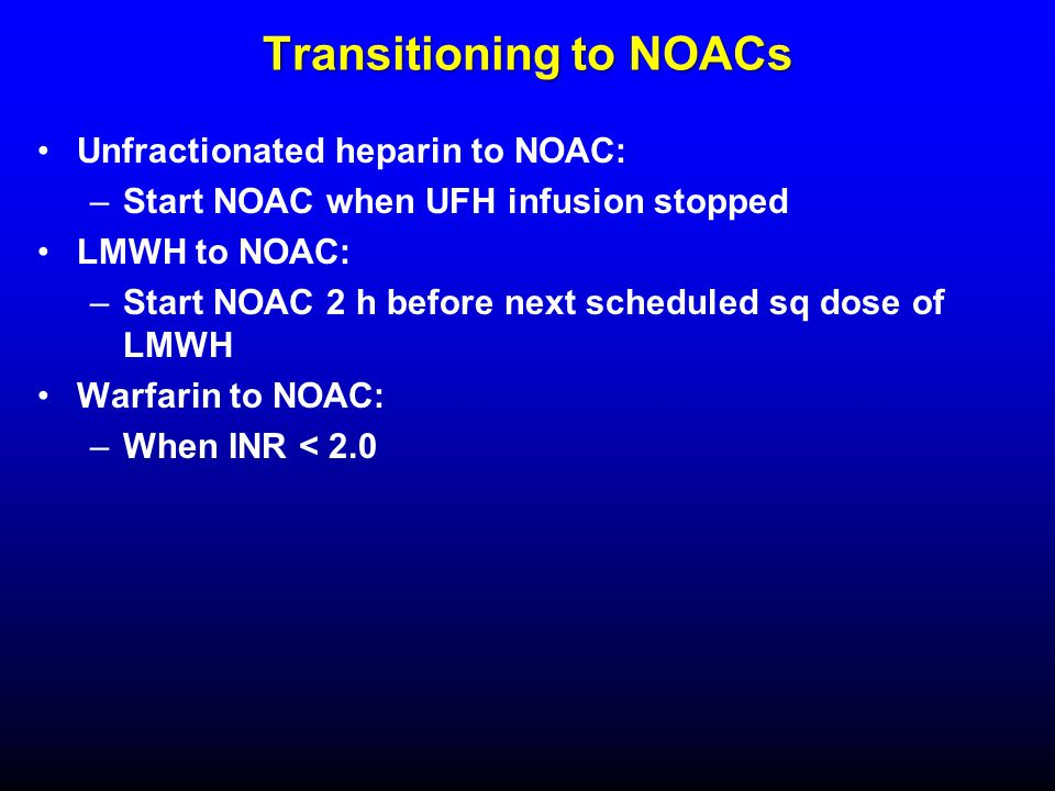 Transitioning to NOACs