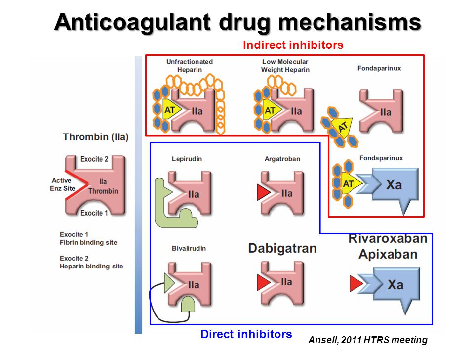 Anticoagulant drug mechanisms