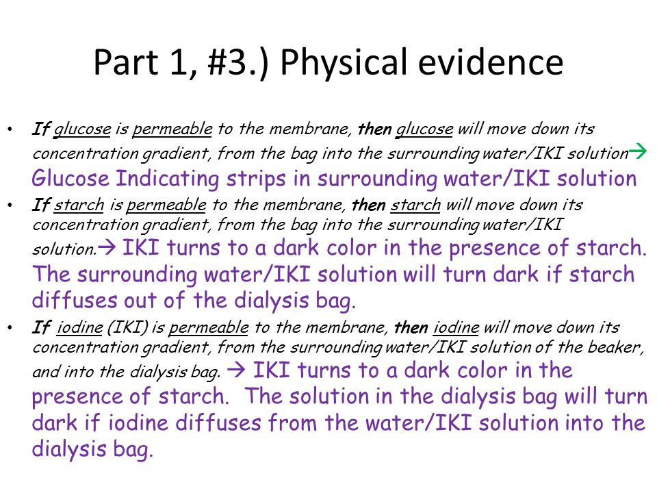 Part 1, #3.) Physical evidence