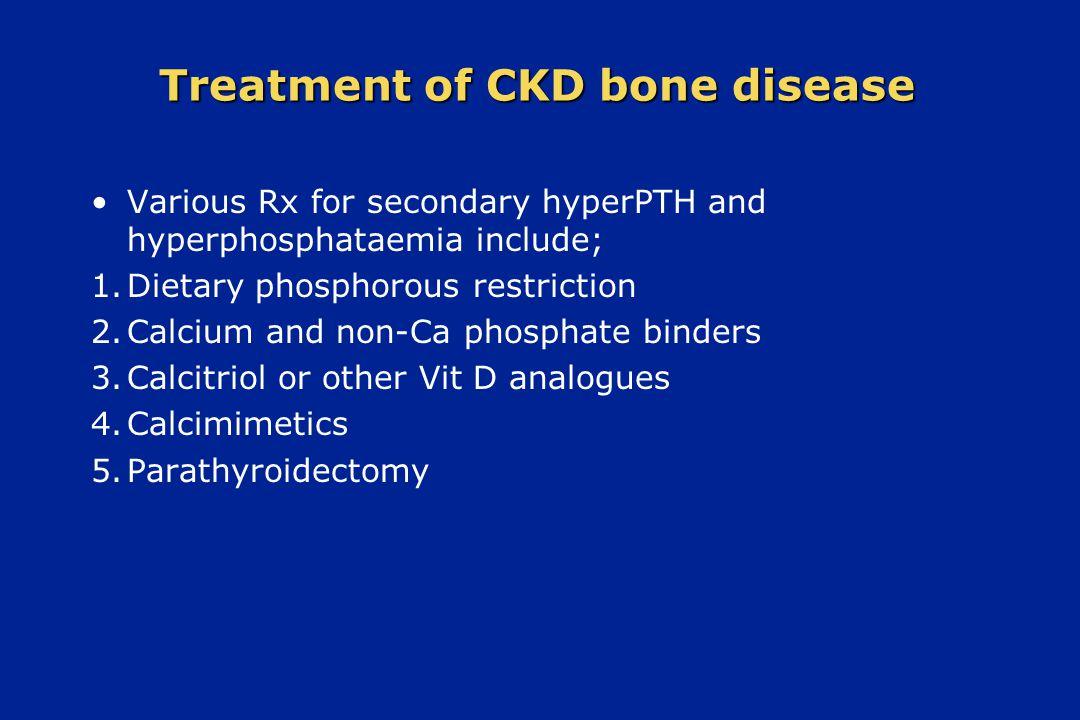 Treatment of CKD bone disease