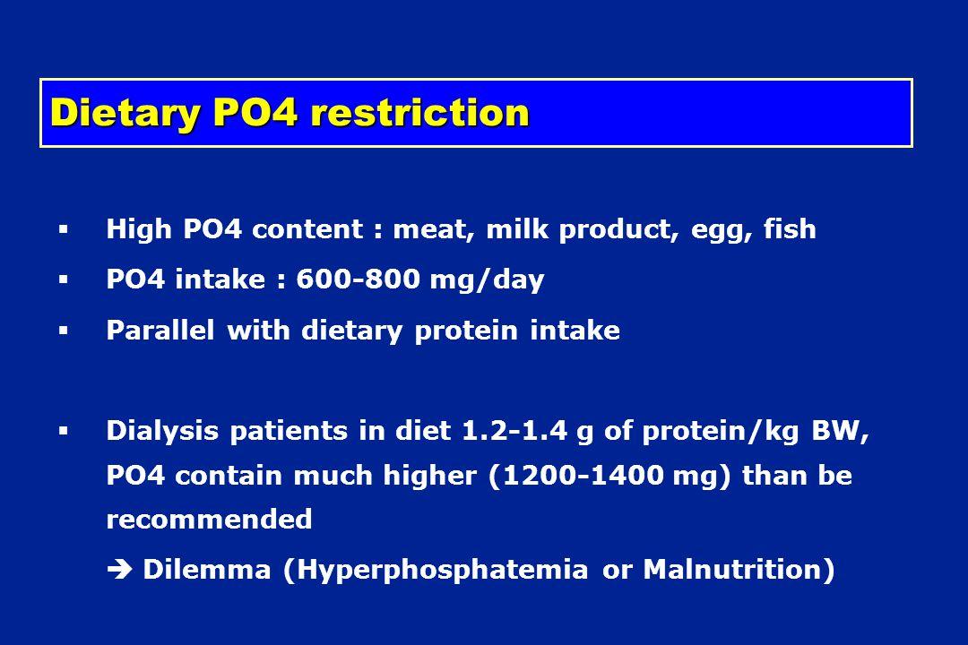 Dietary PO4 restriction