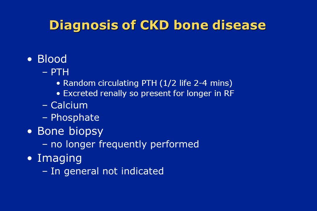Diagnosis of CKD bone disease