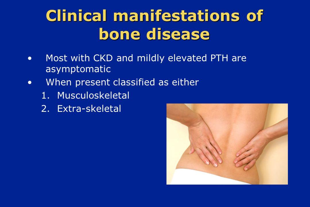 Clinical manifestations of bone disease