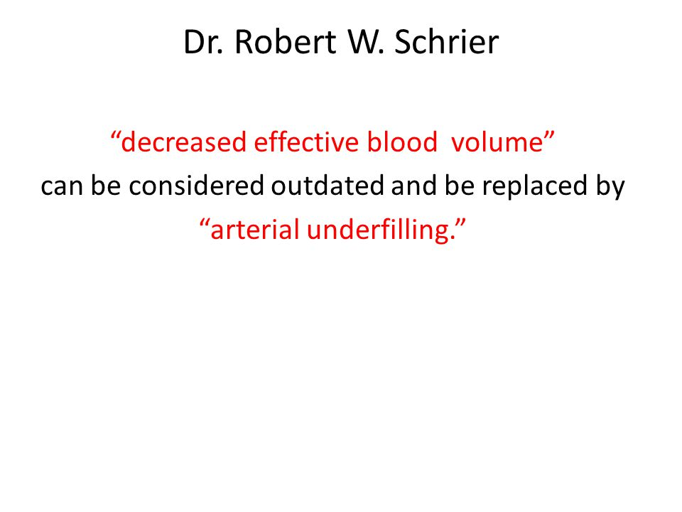 decreased effective arterial