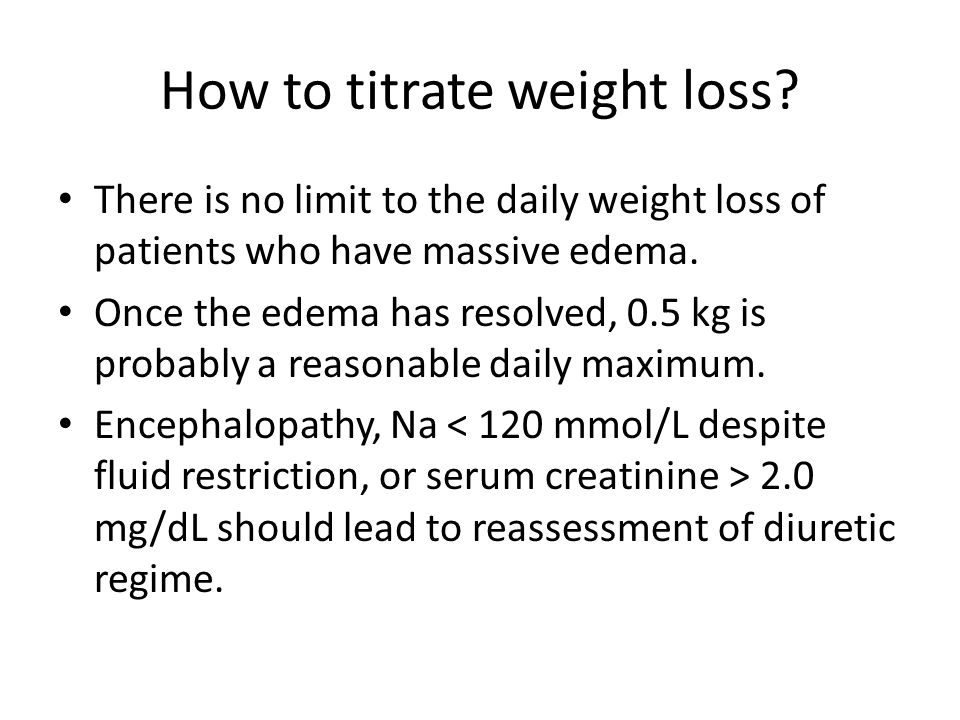 How to titrate weight loss