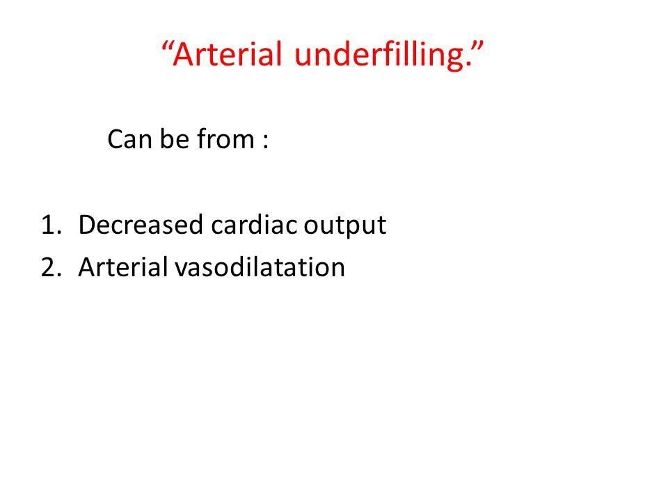 Arterial underfilling.