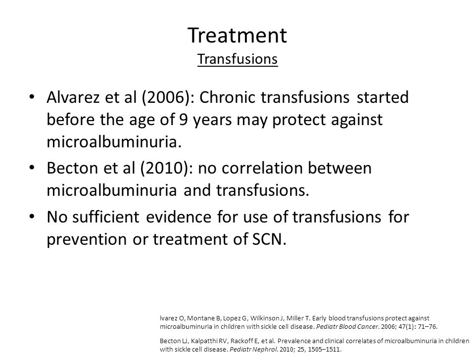 Treatment Transfusions